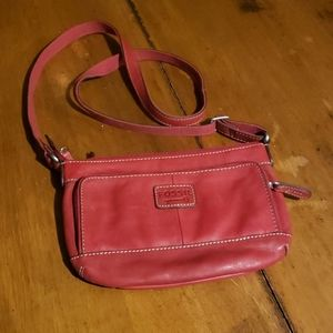 Red Fossil leather Purse